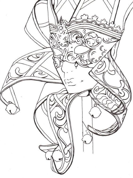 Mask Carnival Fantasy Coloring pages colouring adult detailed advanced printable Kleuren voor volwassenen coloriage pour adulte anti-stress kleurplaat voor volwassene: