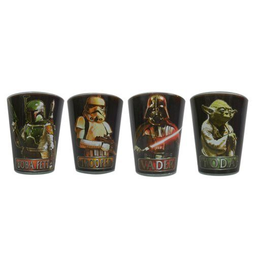Star Wars Characters With Names Mini Glass 4 Pack Star Wars