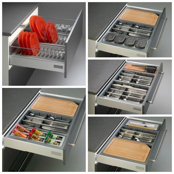 Cuberteros modulares para cajones de cocina cocina en for Cajones para cocina