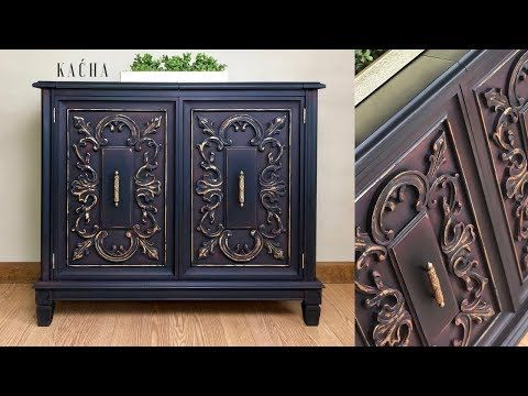 Bar Cabinet Makeover With Chalk Paint Youtube