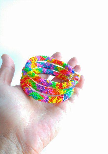 Christmas Sale Beaded crochet bracelets  FREE by SERMINCEJEWELRY