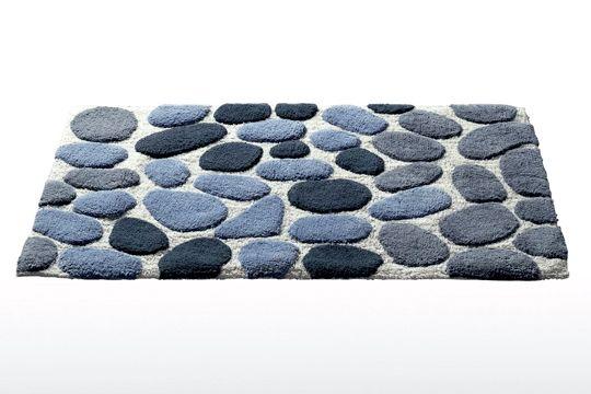 tapis de bain motif galets la redoute home bathroom. Black Bedroom Furniture Sets. Home Design Ideas