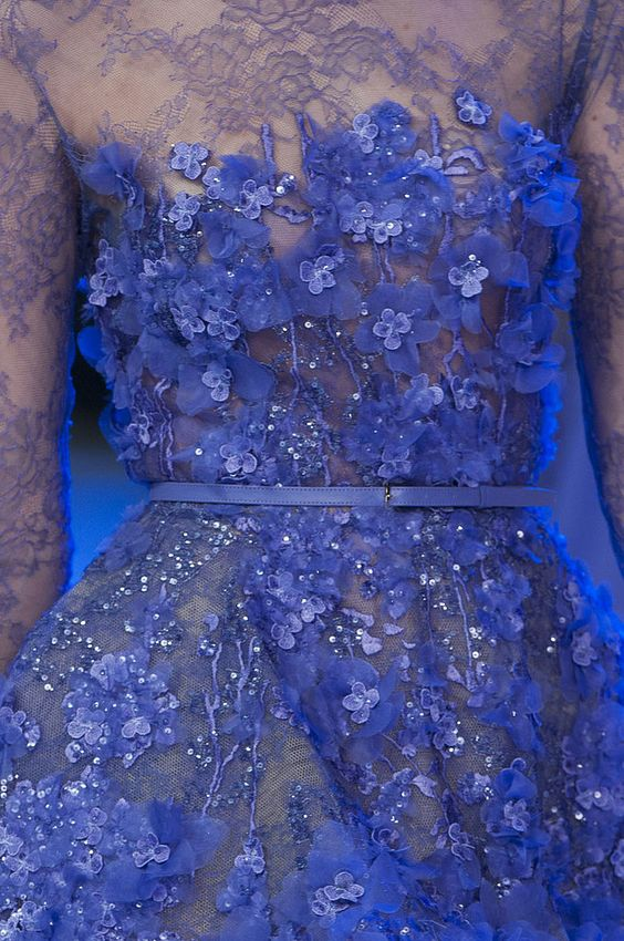 Paris Couture Fashion Week Detail Pictures | Spring 2014 | POPSUGAR Fashion/Ellie Saab