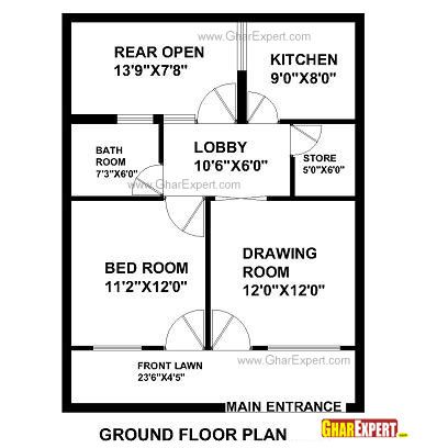 Plan For 30 Feet By 50 Feet Plot  28Plot Size 167 Square Yards 29 Plan Code 1588 likewise Plan For 30 Feet By 60 Feet Plot  Plot Size 200 Square Yards  Plan Code 1429 as well Plan For 40 Feet By 60 Feet Plot  Plot Size 267 Square Yards  Plan Code 1581 together with Plan For 35 Feet By 50 Feet Plot  Plot Size 195 Square Yards  Plan Code 1312 also House Plans Under 750 Square Feet. on 50 yards house plan