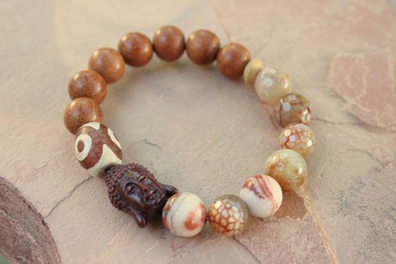 Hey, I found this really awesome Etsy listing at https://www.etsy.com/listing/265416155/buddha-mala-chakra-bracelet-set-laguna