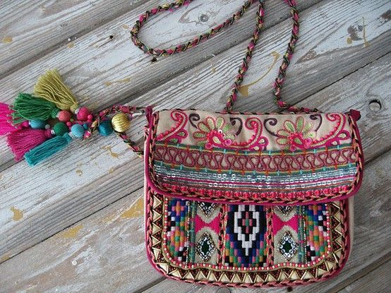 Embroidered and tassled bag!