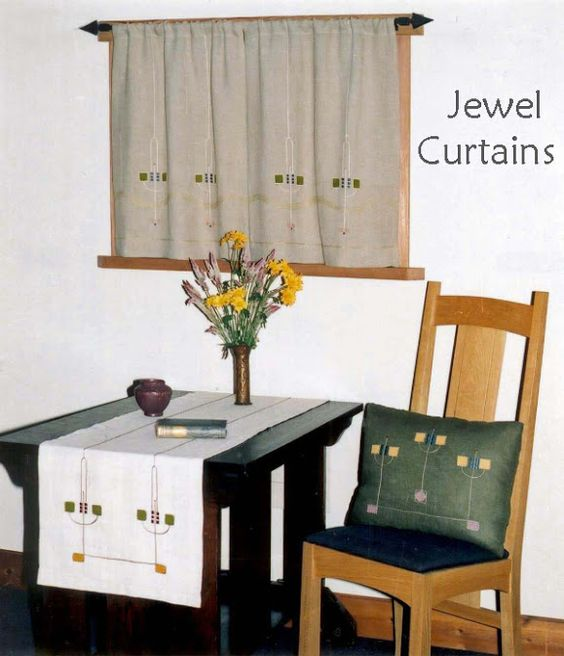 I also like the idea of linen-style curtains with a touch of ...