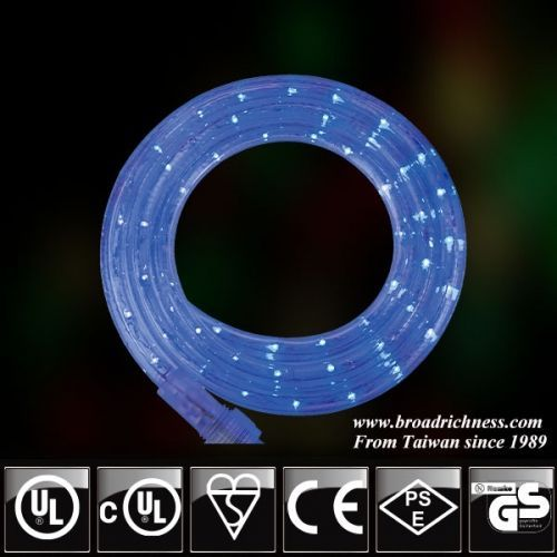 18ft Blue Led Rope Light 2 Wire 1 2 3 8 120 Volt Led Rope Lights Rope Light Outdoor Rope Lights