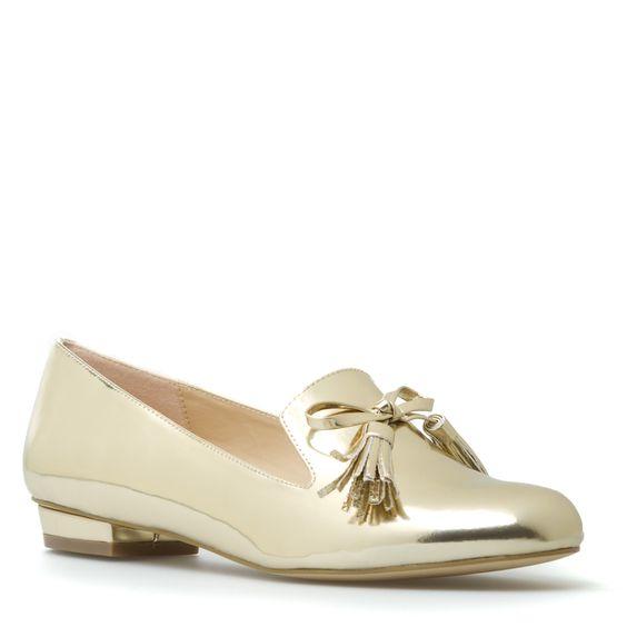 amazing gold shiny shoes!