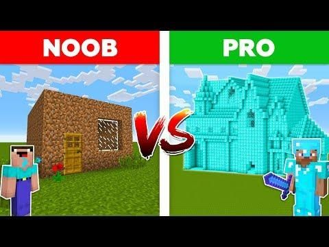 Minecraft Noob Vs Pro Diamond House Vs Dirt House Battle In Minecraft
