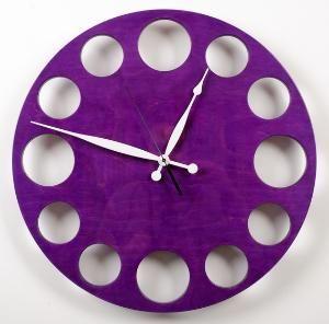 POP Clock in Purple Large by whitevan on Etsy