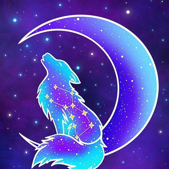 Galaxy Wolf 2 In 2021 Galaxy Wolf Spirit Animal Art Wolf Spirit Animal