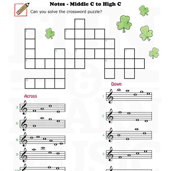 Worksheets Middle School Music Worksheets miss mustard seeds teaching and seed on pinterest fun learn music worksheets treble clef middle c to high c
