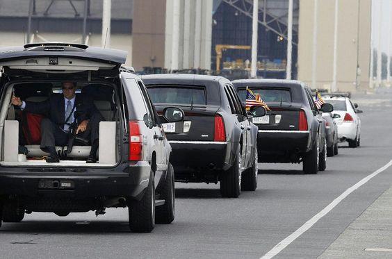 Barack Obama Presidency A U S Secret Service Agent Rides In A
