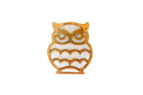 Brass Owl Trivet - Establishment Home