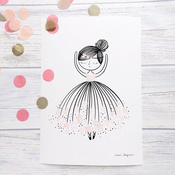 ballerina prints by @cassieloizraux  at littlecloud.kids