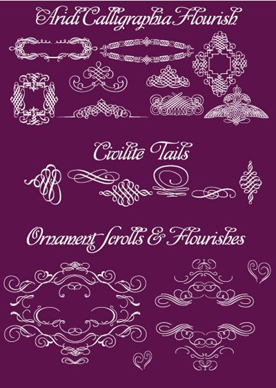 Fonts Ornaments Flourishes And Scrolls 39 I Do 39 It