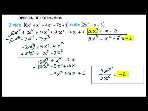 Ejercicios Division De Polinomios Polinomios Matematica