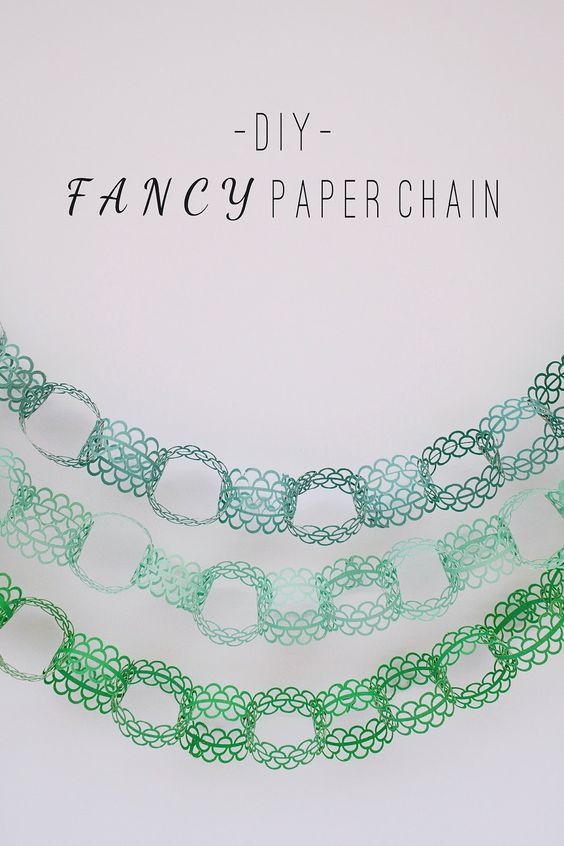 TELL: DIY FANCY PAPER CHAIN - Tell Love and Party