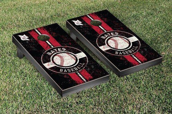 Bates Bobcats Classic Baseball Logo Cornhole Set