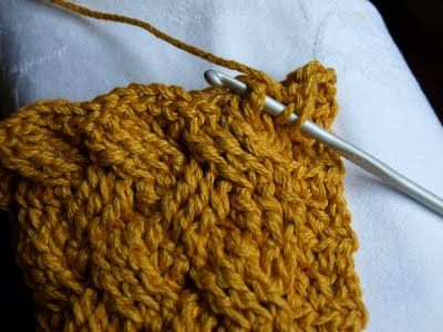How to crochet cables. I want to learn this !