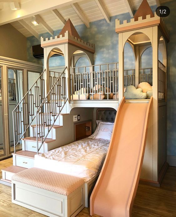 Princess Bedroom Inspirations Achieve An Enchanted Room For Your Little Princess With The Most Amazing Inspiratio Dream Rooms Awesome Bedrooms Kid Room Decor