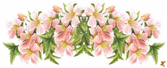 Flores de Primavera, flores, guirnalda de flores,