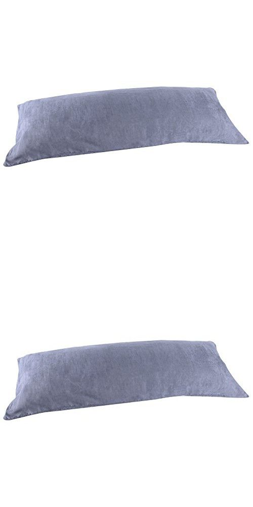 Dark Gray Grey Microsuede Body Pillow Cover Pillowcase With Double Sided Zippers 20 X72 6 Feet Long In 2020 Body Pillow Pillow Covers Body Pillow Covers