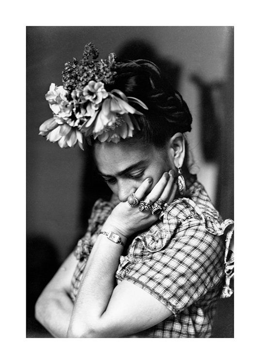 Frida Kahlo Print//Poster Scandinavian photography in black and white