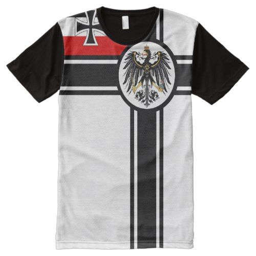 German Kriegsflagge Ww1 War Flag All Over Print T Shirt Zazzle Com Printed Shirts Stylish Shirts Print T Shirt