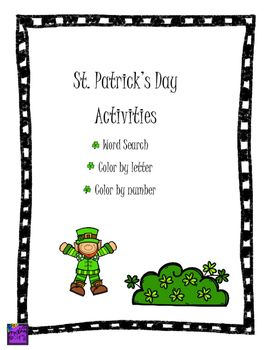 Just+in+time+for+St.+Patrick's+Day!++Some+great+reading+and+math+activities.Word+Search2+Color+by+Numbers2+Color+by+LettersClipart+by+the+amazing+Krista+Wallden.https://www.teacherspayteachers.com/Store/Krista-Wallden