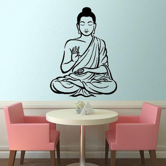 Buda Oração - Decoração em vinil Autocolante decorativo e Papel de parede - www.iconstore.pt