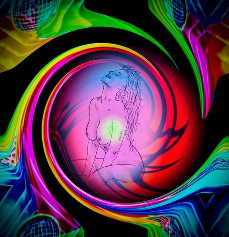 'Abstract Perfection Akt 2' von Walter Zettl bei artflakes.com als Poster oder Kunstdruck $28.75