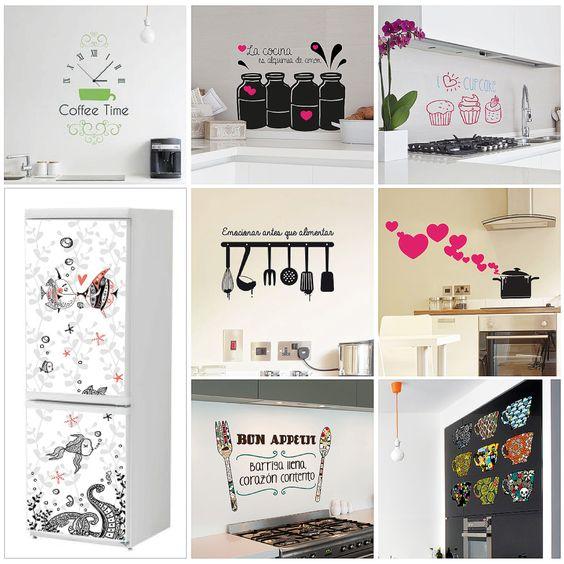 Nuevos vinilos para la cocina descubrelos en nuestra web - Vinilos para electrodomesticos ...