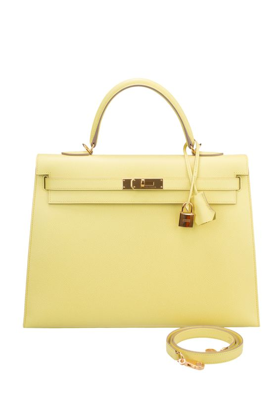 kelly bag replica - Hermes 35cm Soufre Epsom Sellier Kelly with Gold Hardware   Kelly ...