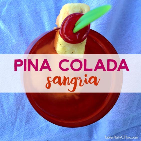 Pina Colado Sangria... the perfect camping cocktail!