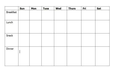 free school lunch menu templates - weekly menu template for daycare google search for the