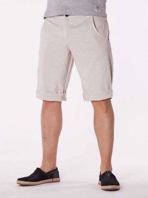 Pantaloni scurti barbati Luppo alb murdar
