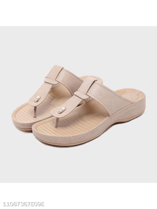 Plain Peep Toe Casual Comfort Slippers Women Shoes Peep Toe Slippers