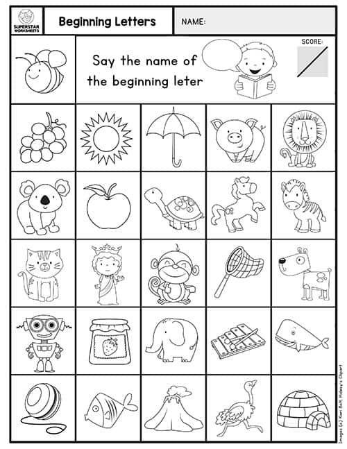 Kindergarten Assessment Worksheets In 2020 Kindergarten Assessment Kindergarten Math Assessment Reading Assessment Kindergarten