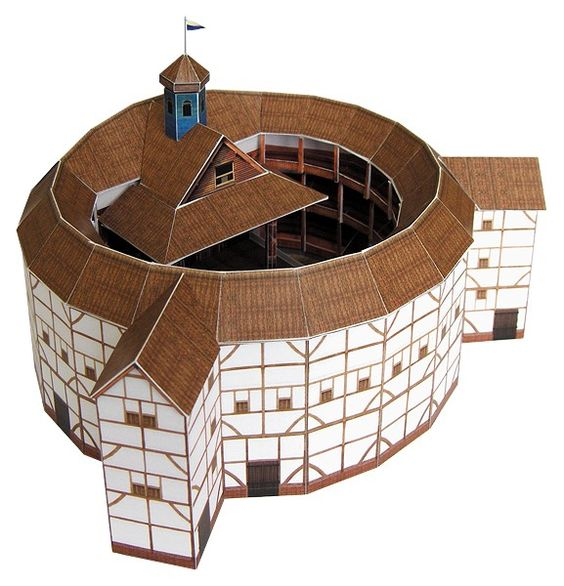 Globe theatre crafts kit for building your own replica of for Theatre model