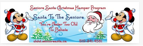We are open 364 days a year. Give to a senior today visit us on the web or on Facebook https://www.facebook.com/SeniorsSantaPage