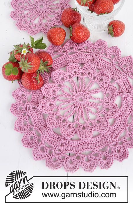 Garnstudio Free Crochet Patterns : When Spring Comes Placemat By DROPS Design - Free Crochet ...