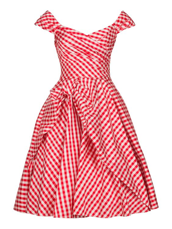 Red & White Gingham Picnic Dress | Fashion | Pinterest ...