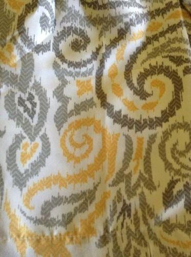 Chevron curtains target threshold yellow amp gray paisley shower curtain
