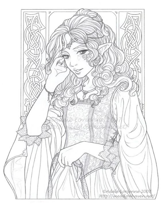 elves coloring pages images witch - photo#24