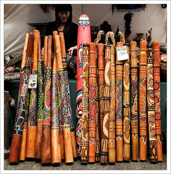 The Didgeridoo is the unique and ancient instrument of the Australian Aborigine.  Through its haunting, yet powerful, sounds, the Didgeridoo evokes reverence and oneness with nature. The deep drone of the Didgeridoo allows us to relax and to reconnect with mother earth.    The spiritual and healing power of the didj has been used for thousands of years in secret ceremonies of Australian aborigines.