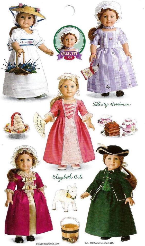 AMERICAN GIRL FELICITY~ELIZABETH STICKERS! PARTY FAVORS