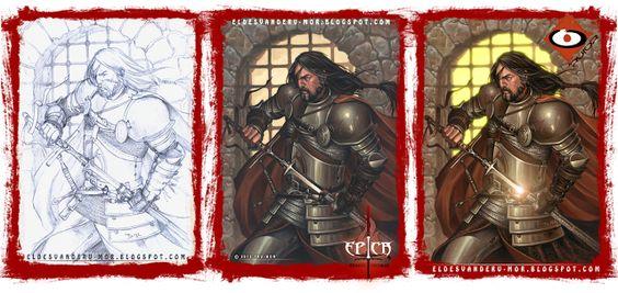 ilustración para Épica.Edades Oscuras