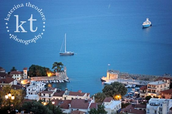 Katerina Theodore Photography | view from the Nafpaktos Venetian Castle of the castle's port at the bottom of the mountain - Nafpaktos, Greece #Nafpaktos #Greece #castle